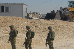 Zionist Forces Demolish EU-funded Bedouin Homes in West Bank